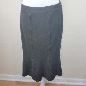 Eileen Fisher Viscose/Wool Pull on Trumpet Skirt